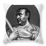 Aulus Vitellius (15-69 A.d.) Throw Pillow