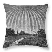 Aurora Borealis, 1837 Throw Pillow