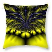 Aurora Borealis Dreams Fractal 58 Throw Pillow