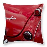 Austin-healey Tail Light And Emblem Throw Pillow