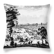 Australia: Gold Rush, 1851 Throw Pillow