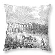 Australia: Melbourne, 1853 Throw Pillow