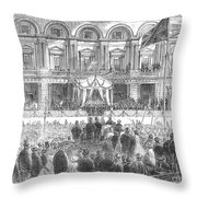 Australia: Melbourne, 1863 Throw Pillow