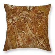 Indigenous Aboriginal Art 2 Throw Pillow