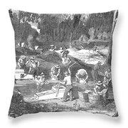 Australian Gold Rush, 1851 Throw Pillow