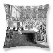 Austrian Assembly, 1848 Throw Pillow