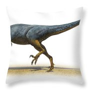 Austroraptor Cabazai, A Prehistoric Era Throw Pillow
