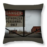 Authorized Personnel Throw Pillow