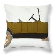 Auto: Chevrolet, 1919 Throw Pillow