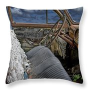 Auto Interior Of Abandoned Vehicle Throw Pillow