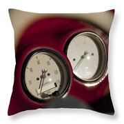 Auto Meter Dashboard Guages Throw Pillow