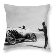 Auto Racing, 1910 Throw Pillow