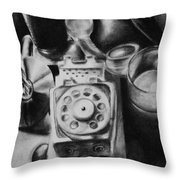Autobiographical Still Life Throw Pillow