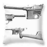 Automatic Pistols Throw Pillow