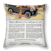 Automobile Ad, 1926 Throw Pillow