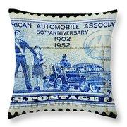 Automobile Association Of America Throw Pillow