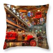 Automobile Paradise Throw Pillow