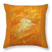 Autum Angel Throw Pillow by Judy M Watts-Rohanna