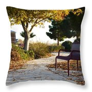 Autum At The Park Throw Pillow