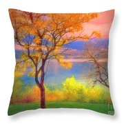 Autum Morning Throw Pillow