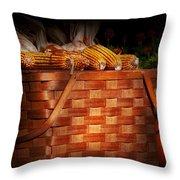 Autumn - Gourd - Fresh Corn Throw Pillow