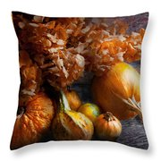 Autumn - Gourd - Still Life With Gourds Throw Pillow by Mike Savad