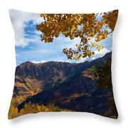 Autumn Above Aspen Throw Pillow