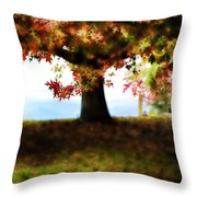 Autumn Acorn Tree Throw Pillow