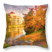 Autumn And Architecture Throw Pillow