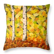 Autumn Aspens Throw Pillow