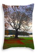 Autumn At British Camp Throw Pillow
