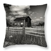 Autumn Barn Black And White Throw Pillow