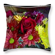 Autumn Boquet Throw Pillow