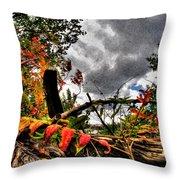 Autumn Breeze Through The Trees    Alt Throw Pillow