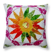 Autumn Chakra Throw Pillow