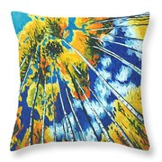 Autumn Crunch - Autumn Tree Painting Throw Pillow