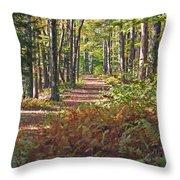 Autumn Ferns Throw Pillow