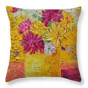 Autumn Flowers 4 Throw Pillow