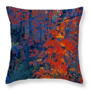 Autumn Foliage Throw Pillow