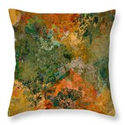 Autumn Forest Tree Tops Abstract Throw Pillow