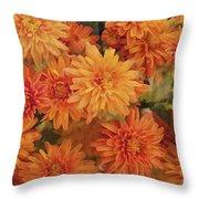 Autumn Garden Impressions Throw Pillow