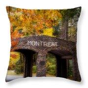 Autumn Gate Throw Pillow