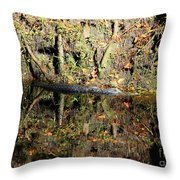 Autumn Gator Throw Pillow