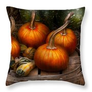 Autumn - Gourd - Pumpkins And Some Other Things  Throw Pillow
