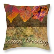 Autumn Greeting Card IIi Throw Pillow