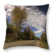 Autumn Highway Throw Pillow