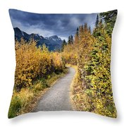 Autumn In Alberta Throw Pillow