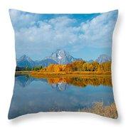 Autumn In Grand Teton Throw Pillow
