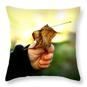 Autumn In Hand Throw Pillow
