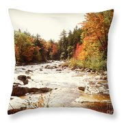 Autumn In New Hampshire Throw Pillow by Crystal Joy Photography